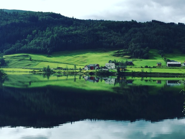 View of Norwegian countryside on way to Icetroll