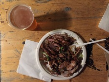 Crispy duck and a draught beer